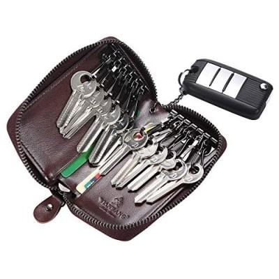 Italian leather zipper key case car keychain