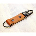 Leather Tactical HK EDC Clip Fob Keychain - Full Grain Leather