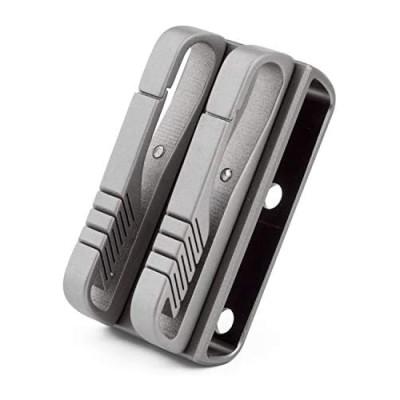 TISUR Belt loop keychain Titanium Key Holder with Detachable Keyring Gifts for men