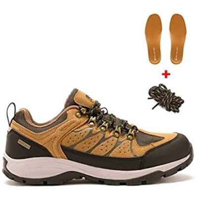 AQUA SOFTSHELL Men's Waterproof Hiking Shoes Lightweight Non-Slip Low-Cut Trekking Hiking Sneakers Outdoor Backpacking Camping Climbing Shoes