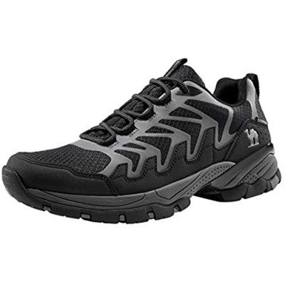 CAMEL CROWN Men Hiking Shoes Lightweight Low Top Hiking Boots Breathable Waterproof Sneakers for Trail Outdoor