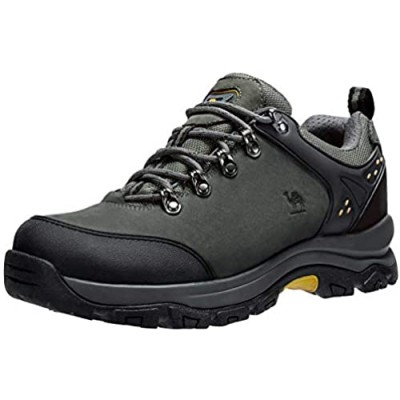 CAMEL CROWN Men's Hiking Shoes Low Top Trekking Boots Non-Slip Walking Sneakers for Outdoor Work Trail Casual