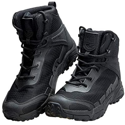 FREE SOLDIER Men's Waterproof Hiking Boots 6 Inches Lightweight Work Boots Military Tactical Boots Durable Combat Boots