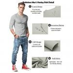 Babioboa Men's Henley Shirt Long Sleeve Casual Basic T-Shirt Beach Yoga Top