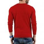 Decrum Mens Long Sleeve Soft Cotton - Plain Long Sleeve Shirt Men