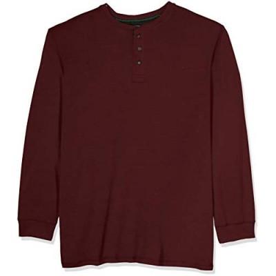 G.H. Bass & Co. Men's Big and Tall Carbon Long Sleeve Jersey Henley Shirt