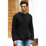 Janmid Men's Casual Long Sleeve Henley Pocket T-Shirts Cotton Shirts