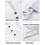 LecGee Men's Casual Henley Shirt Short Sleeve V Neck Henley Top Basic Cotton Shirts with 3 Button