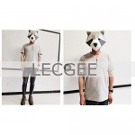 LecGee Men's Cotton Henley Shirt Short Sleeve Regular Fit Henley Top Casual Fashion T-Shirt with Buttons