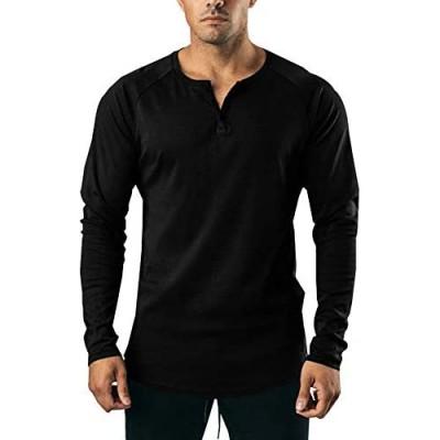 LONGBIDA Mens Casual Slim Fit Long Sleeve Henley T Shirts