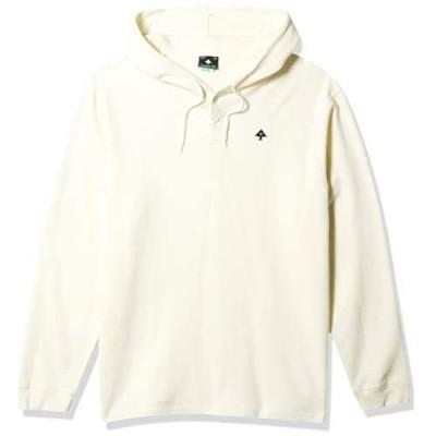 LRG Men's Long Sleeve Raglan Hooded Henley Shirt