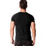 MODCHOK Men's Henley T Shirt Short Sleeve Fashion V Neck Button Slim Fit Tops Blouse
