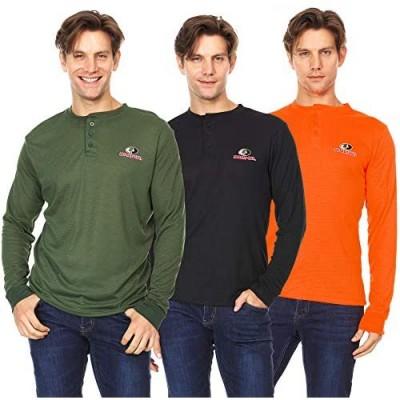Mossy Oak Mens Henley Long Sleeve Thermal Base Layer Waffle Shirt