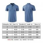 MUSE FATH Men's Short Sleeve Henley Shirt Casual Button Placket T-Shirt