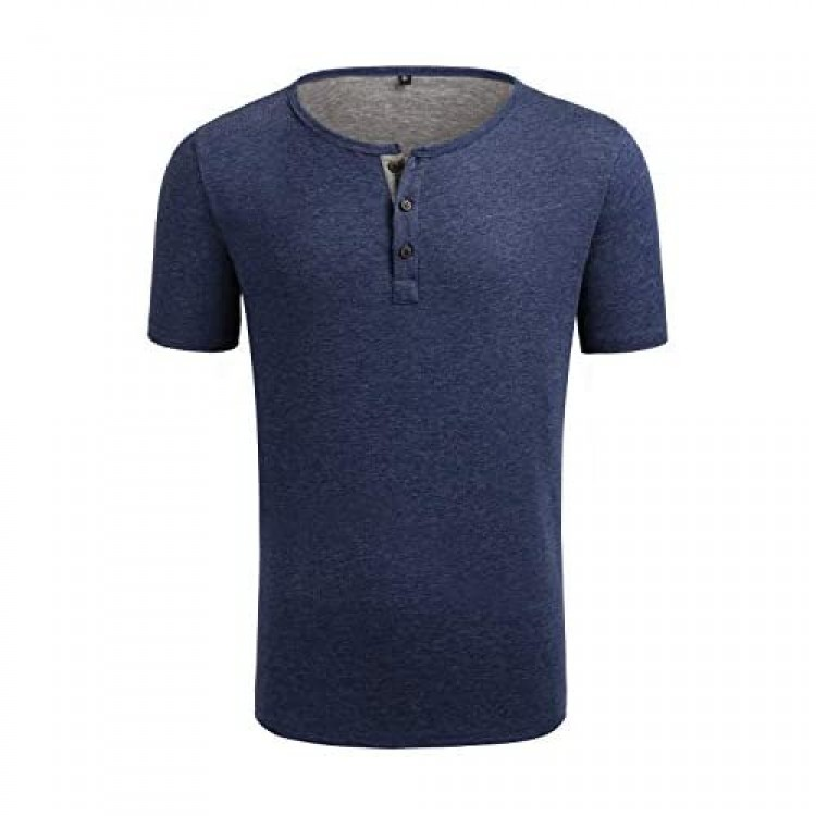 Oxnov Short Sleeve Henley Shirts for Men Athletic Henley Shirt Casual Soft Active Jerseys Tee