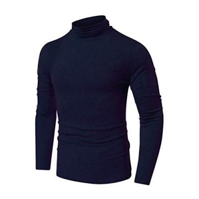 QualityS Mens Slim Fit Soft Turtleneck Long Sleeve Pullover Lightweight T-Shirt