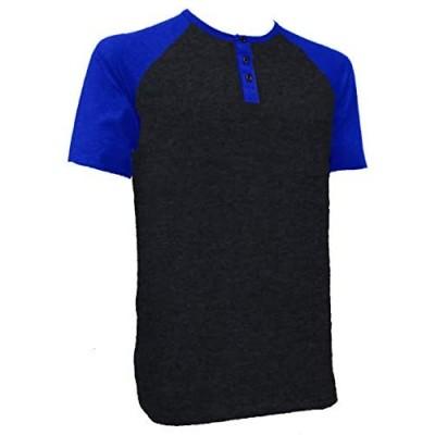 Styllion Big and Tall - Mens Raglan Baseball Henley Shirts - Heavy Weight - RHSS