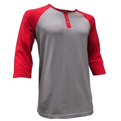Styllion Mens Baseball Henley Shirts - Big and Tall - Heavy Weight - RHQS