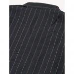 Taoliyuan Mens Linen Henley Shirt Vertical Striped Short Sleeve Banded Collar V Neck Hippie T Shirt