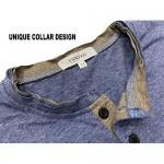 VANCOOG Mens Long Sleeve Casual Lightweight Fitted Basic Henley T-Shirt