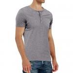 YTD Men's Casual Slim Fit Long Sleeve Henley T-Shirts Cotton Shirts