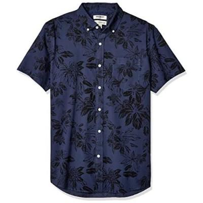 Brand - Goodthreads Men's Standard-Fit Short-Sleeve Printed Poplin Shirt