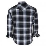 Coevals Club Men's Western Cowboy Long Sleeve Pearl Snap Casual Work Shirts