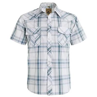 Coevals Club Men's Western Cowboy Short Sleeve Pearl Snap Casual Work Shirts