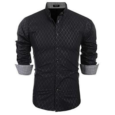 COOFANDY Men's Business Dress Shirt Long Sleeve Casual Slim Fit Button Down Shirt