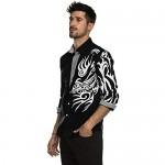 COOFANDY Men's Print Button Down Dress Shirt Fashion Long Sleeve Casual Shirts