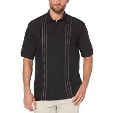 Cubavera Men's Short Sleeve Tuck with Geo Stitching Shirt