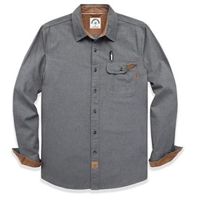 Dubinik Men's Flannel Long Sleeve Plaid Shirts Button-Down Cotton Casual Shirt Regular Fit