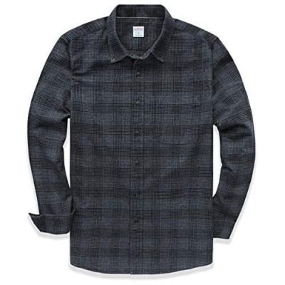 Dubinik Men's Plaid Flannel Long Sleeve Shirts Cotton Casual Shirt Regular Fit