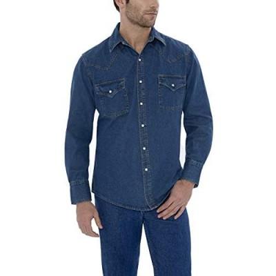 ELY CATTLEMAN Men's Long Sleeve Denim Western Shirt
