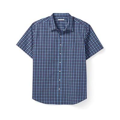 Essentials Men's Big & Tall Short-Sleeve Plaid Casual Poplin Shirt Fit by DXL