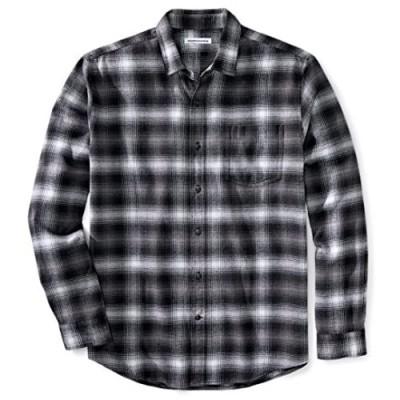 Essentials Men's Regular-fit Long-Sleeve Plaid Flannel Shirt