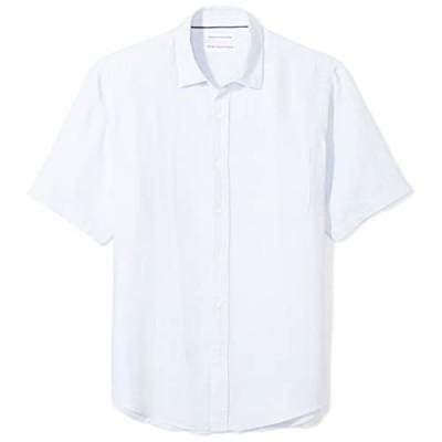 Essentials Men's Regular-Fit Short-Sleeve Linen Shirt