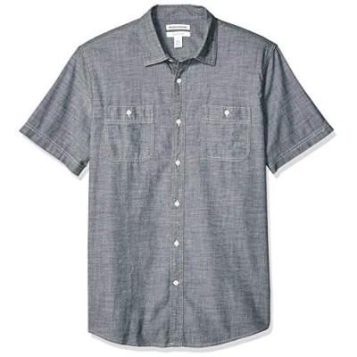 Essentials Men's Regular-fit Short-Sleeve Poplin Shirt