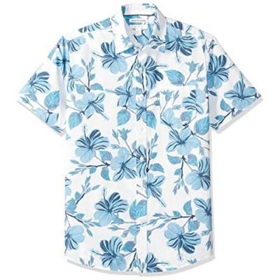 Essentials Men's Regular-fit Short-Sleeve Print Shirt