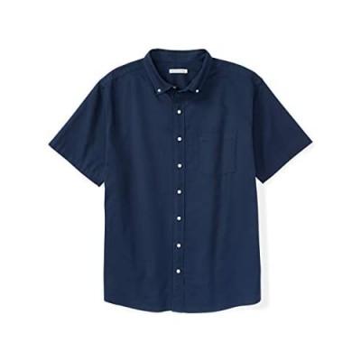 Essentials Men's Short-Sleeve Pocket Oxford Shirt fit by DXL