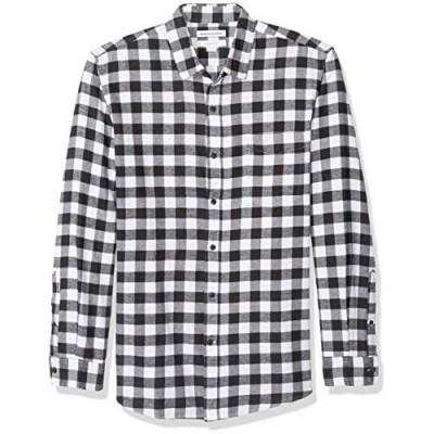 Essentials Men's Slim-Fit Long-Sleeve Flannel Shirt