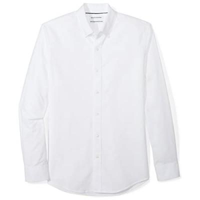 Essentials Men's Slim-Fit Long-Sleeve Pattern Pocket Oxford Shirt