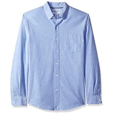 Essentials Men's Slim-fit Long-Sleeve Solid Pocket Oxford Shirt