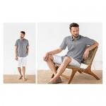 JEKAOYI Button Down Short Sleeve Linen Shirt for Men Summer Casual Cotton Spread Collar Tops
