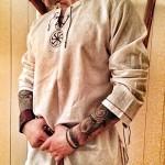 Men's Fashion Cotton Linen Shirt Long Sleeve Solid Color Ethnic Beach Yoga Top