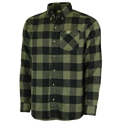 Mossy Oak Flannel Shirt for Men Buffalo Plaid Long Sleeve Mens Flannel Shirts