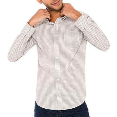 Untucked Shirts for Men Long Sleeve - Dry Fit Untuck Casual Shirt - Slim Fit