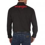 Wrangler Men's Long Sleeve Western Logo Button Shirt