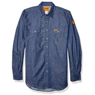 Wrangler Riggs Workwear Men's Fr Flame Resistant Western Long Sleeve Two Pocket Snap Shirt