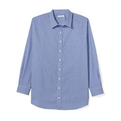 Essentials Men's Big & Tall Wrinkle-Resistant Long-Sleeve Pattern Dress Shirt fit by DXL